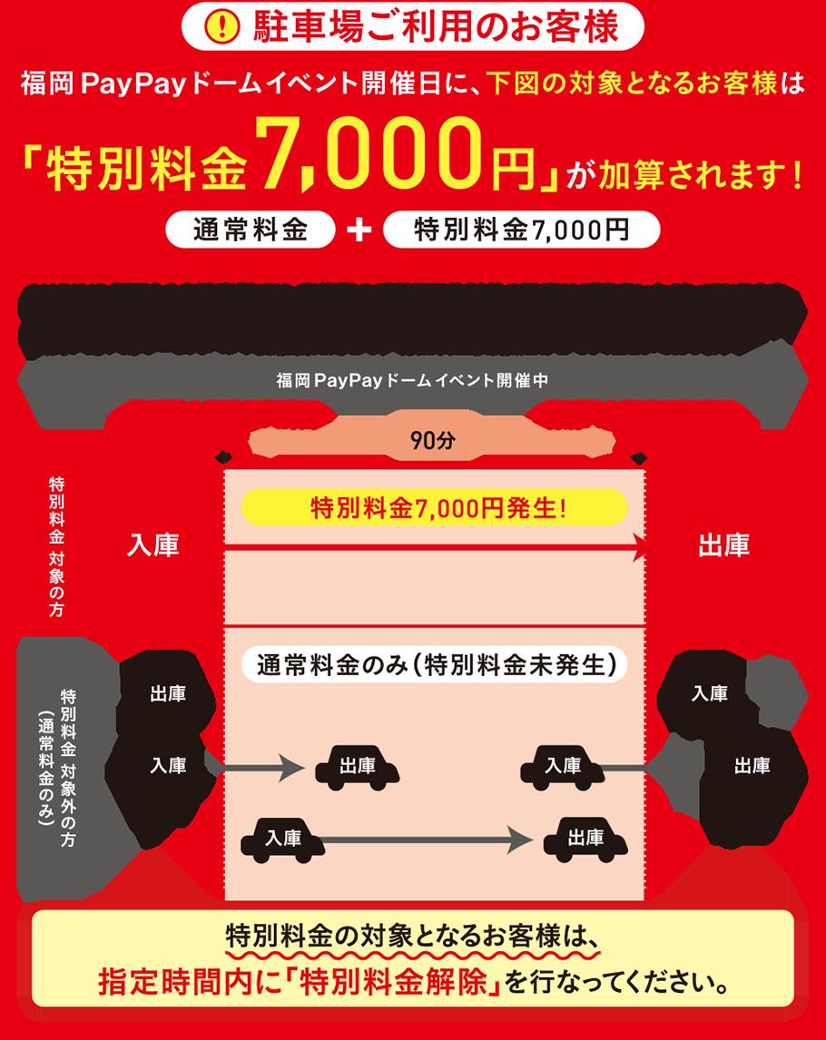 特別料金7000円が加算されます!